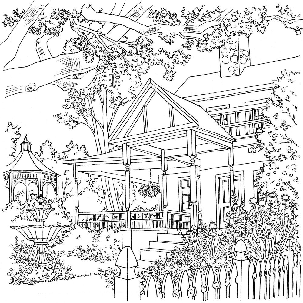 country scenery coloring pages - photo#24