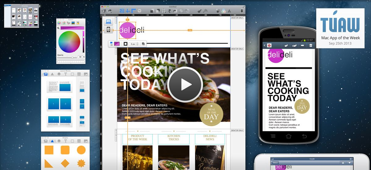 Mail Designer Pro Create Responsive Newsletter With Style 99 For The Program From The App Store There S With Images Social Web Html Email Email Newsletters