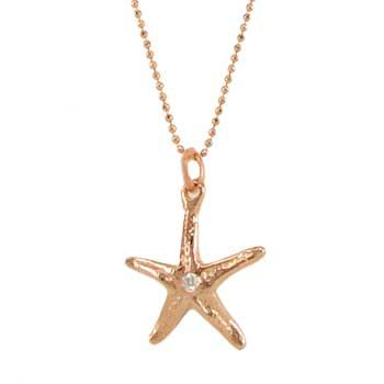 STARFISH & DIAMOND NECKLACE