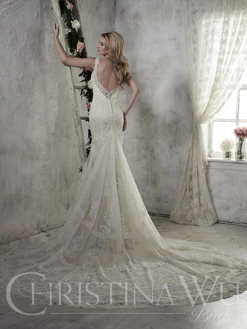 Low cut wedding dresses  A wedding dress with beautiful artistic lace a low cut back and the