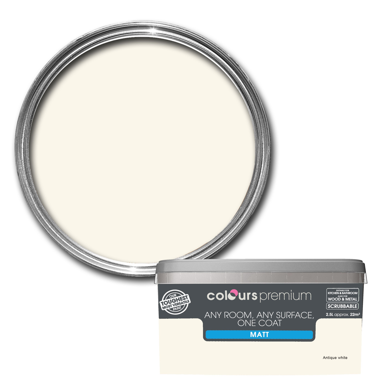 Leather jacket killer b&q - Colours Premium Antique White Matt Emulsion Paint 2 5l