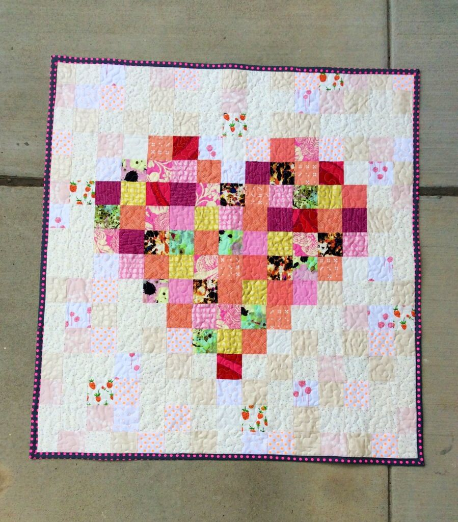 Pixelated Heart Quilt by thefabricstudio in Nashville