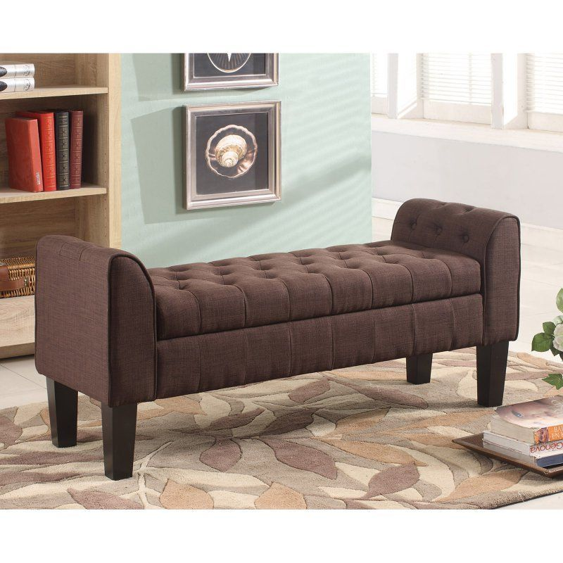 Milton Greens Stars Berlin Tufted Indoor Storage Bench with Armrests ...