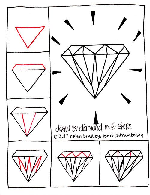 How to Draw a Diamond in Six Steps