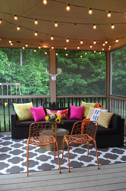 Patio/Sunroom Inspiration! Pillows From Home Goods Always Pack A Punch!  {Sponsored}