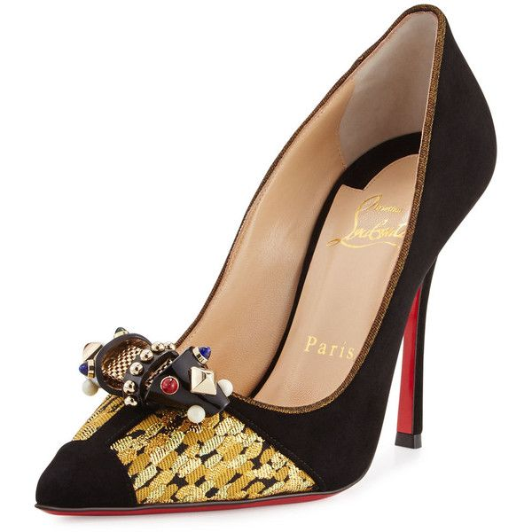 f8cd5924952 ... netherlands christian louboutin tudor ornament red sole pump 895 liked  on polyvore featuring shoes a88de 2ca3b