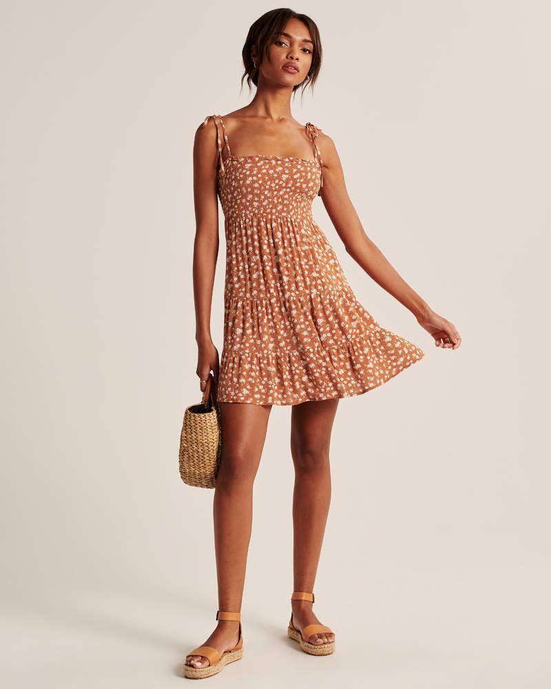 16+ Smocked mini dress information