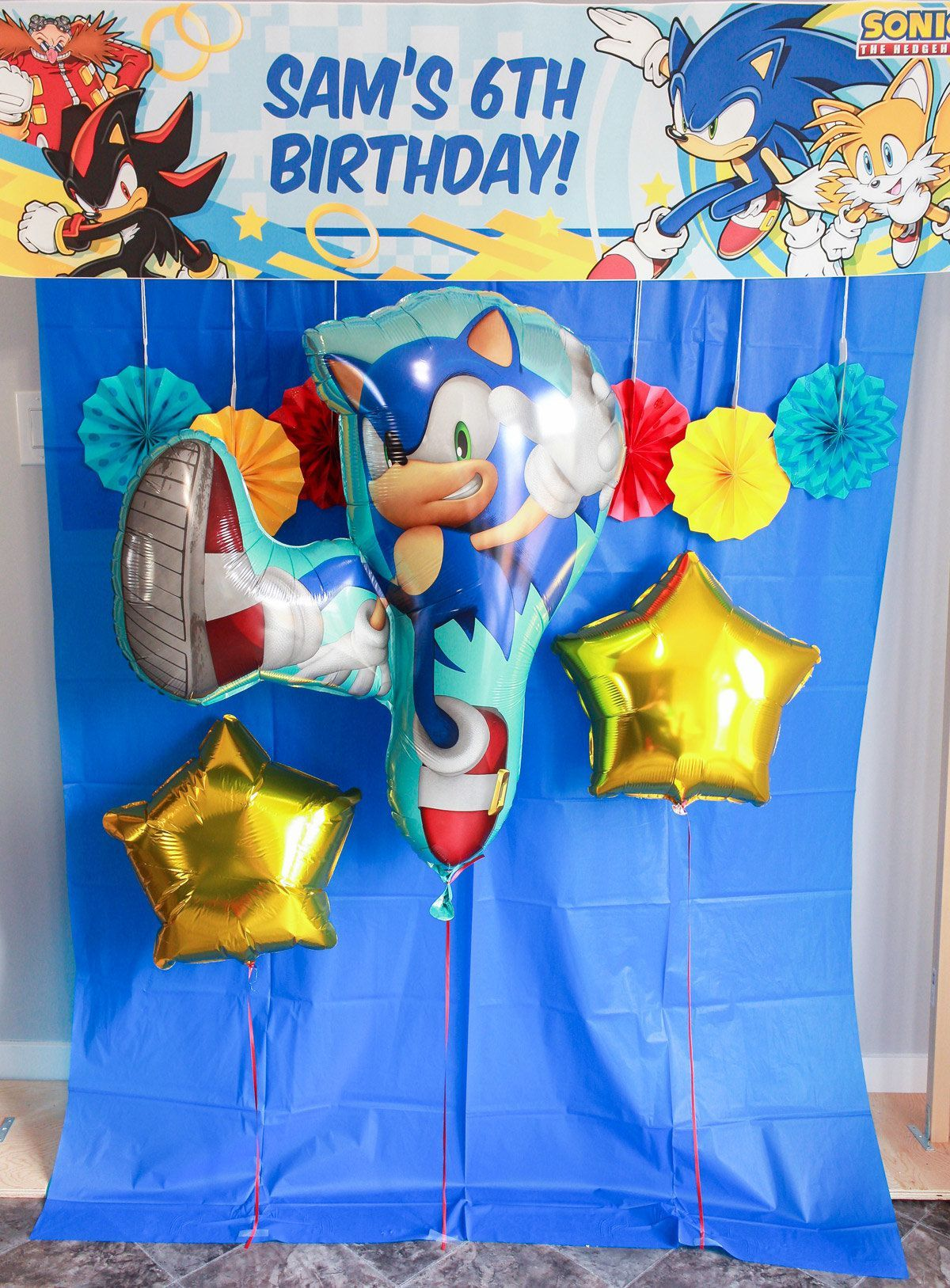 The Ultimate Sonic The Hedgehog 6th Birthday Party Supplies Balloon Decorations