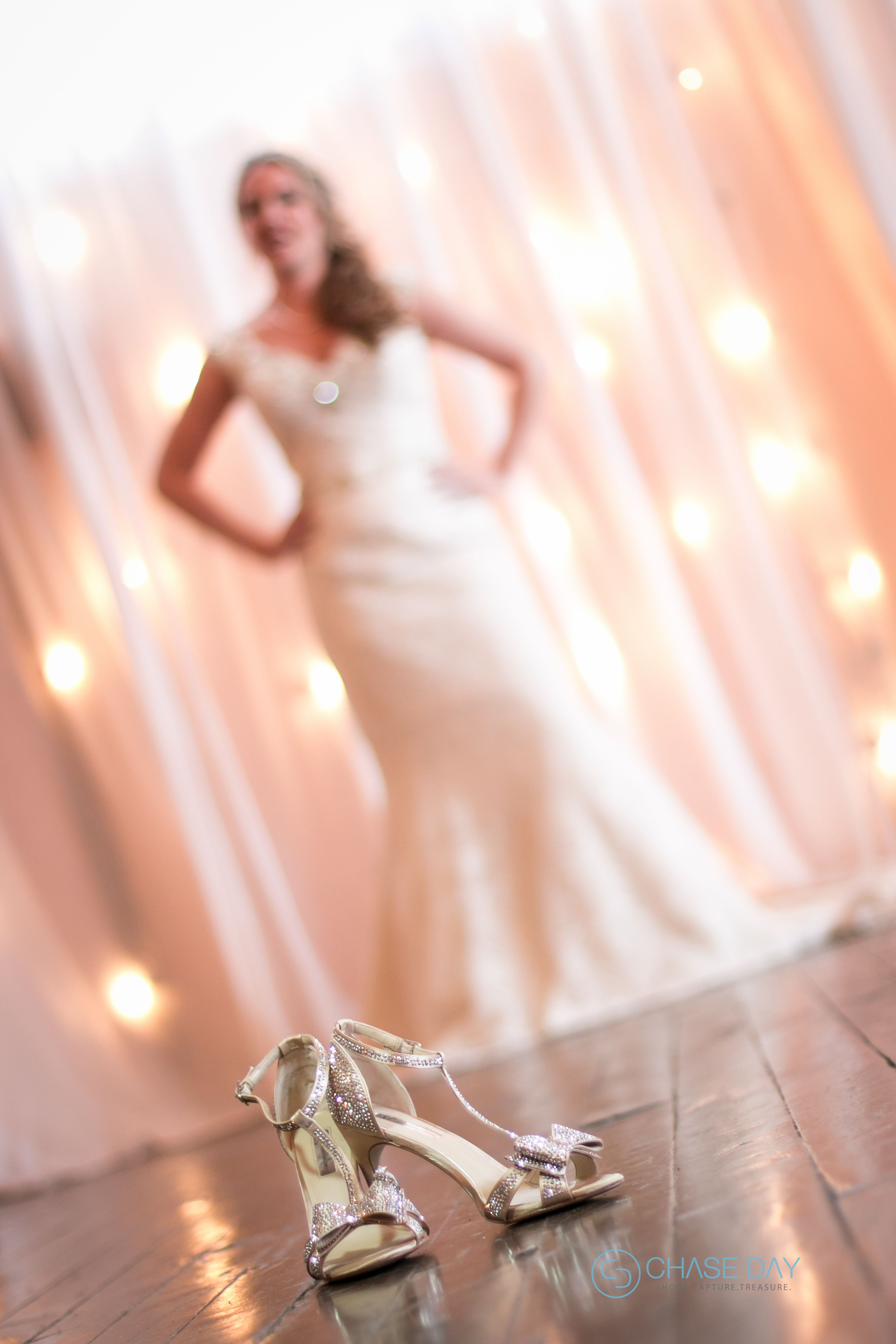 Bridal Shoot At The Wedding Venue Flour Mill In McKinney TX Bride Shoes And