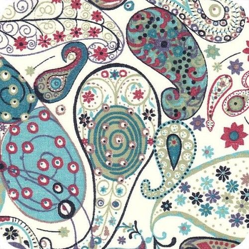 Tissu Liberty Mark bleu turquoise