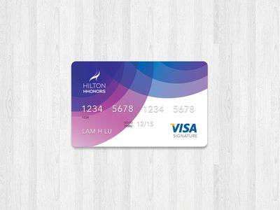 Hilton Hhonors Credit Card Credit Card Design Business Credit Cards Credit Card Art