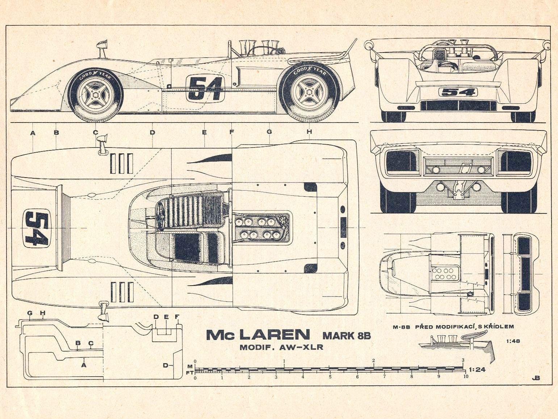 Mclaren M8b With Images Mclaren Mclaren P1 Blueprints