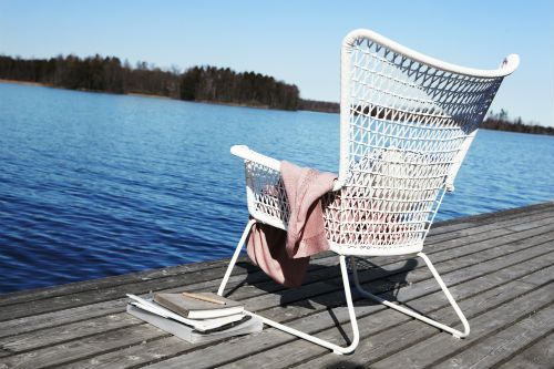 Hogsten Armchair Outdoor White Cheap Garden Furniture Ikea