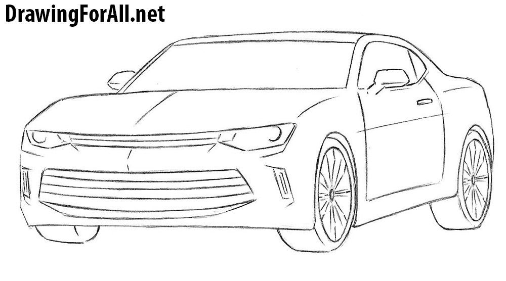 How To Draw A Chevrolet Camaro Chevrolet Camaro Camaro Car Camaro