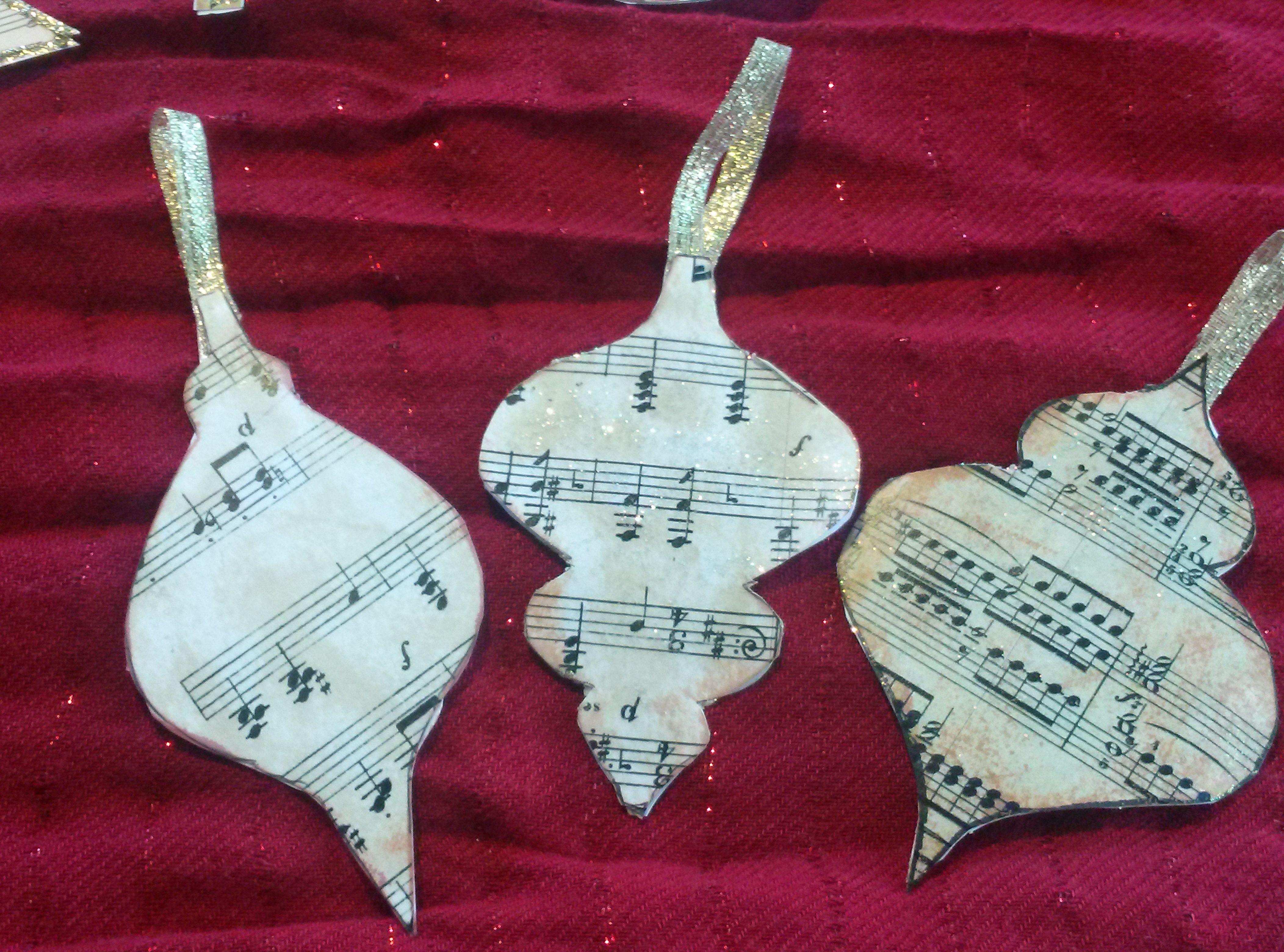 Music christmas ornaments - Diy Ornaments For A Music Themed Christmas Tree