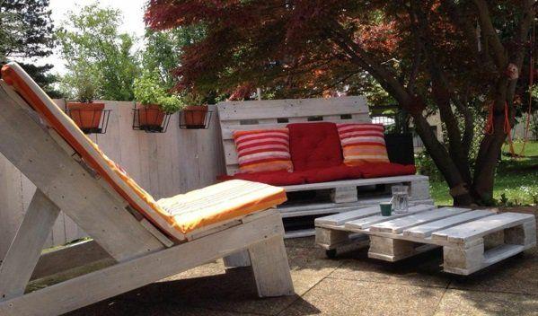 Möbel Weiß Farblack Paletten Gartenmöbel Europaletten Lounge