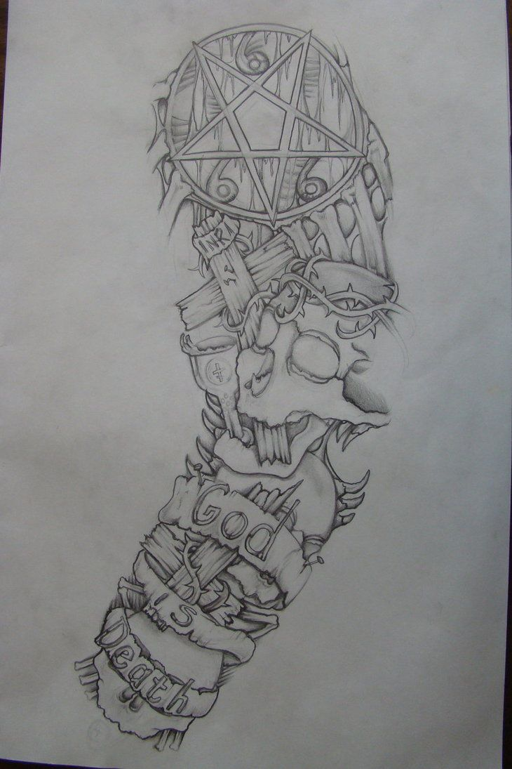 Sleeve Tattoo Drawings: Sleeve Drawing Done 3 Yrs Ago By Chrismorillo On DeviantArt