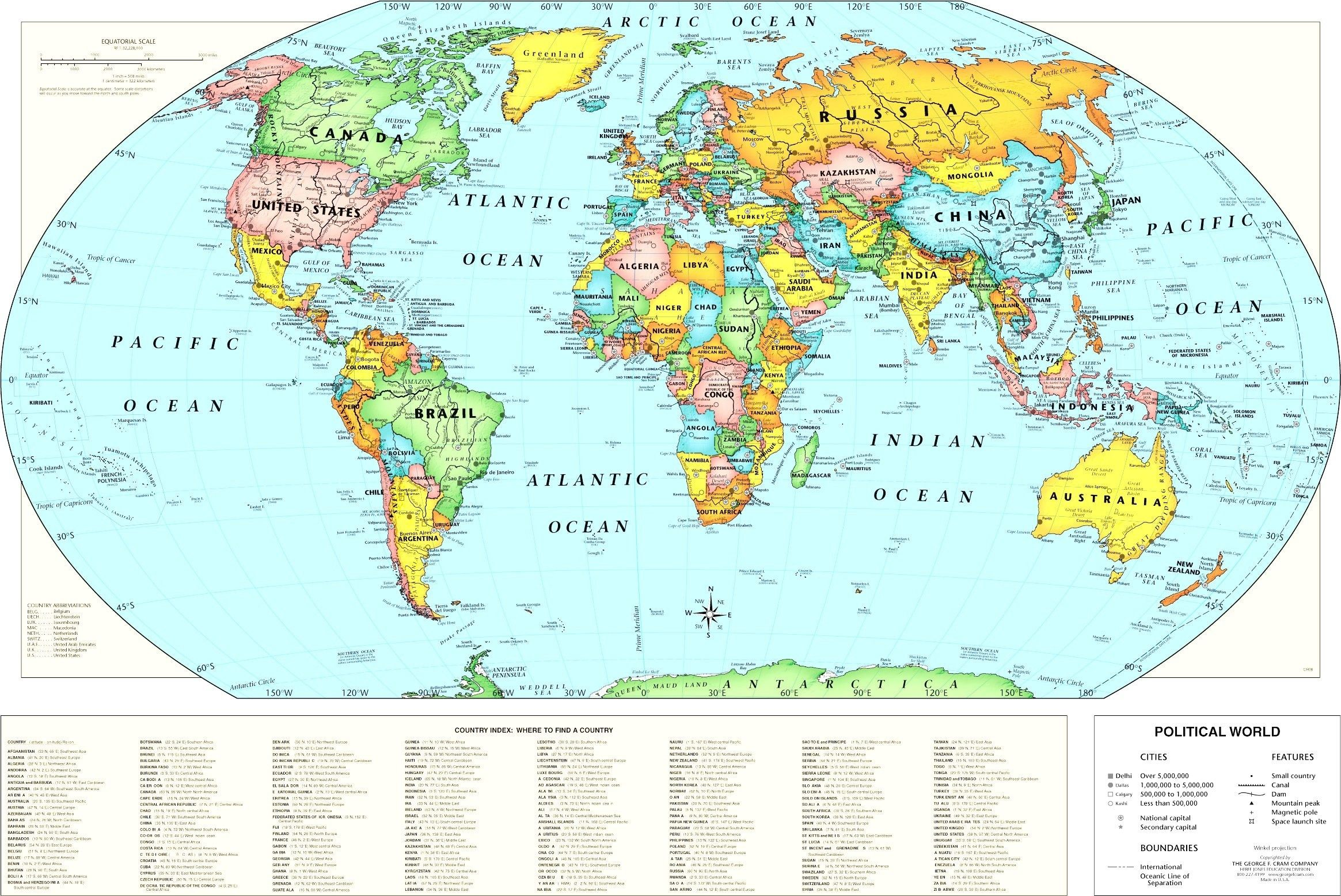 World Map Of Longitude And Latitude