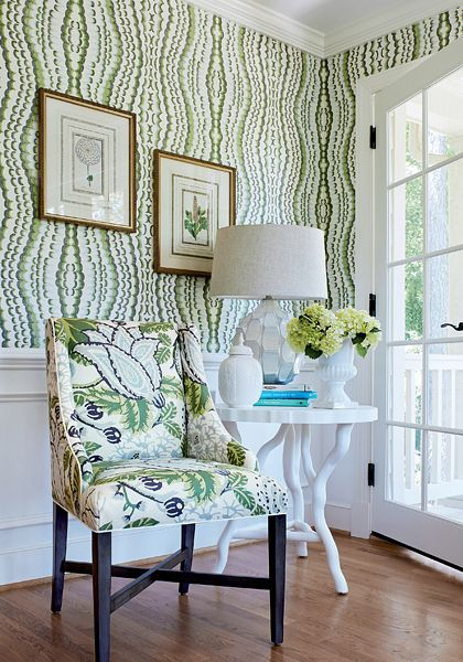 14 Fashion Forward Rooms For Every Design Lover: Paramount Wallpaper And Fabric Collection From Thibaut