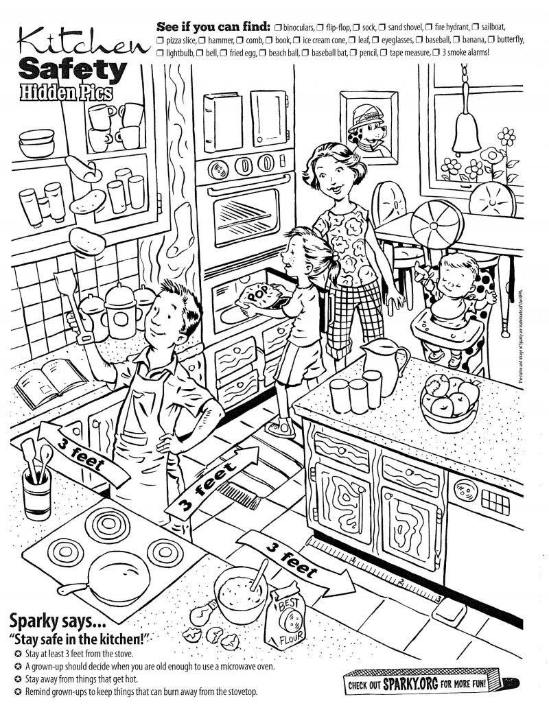 Image result for kitchen worksheets free Kitchen safety