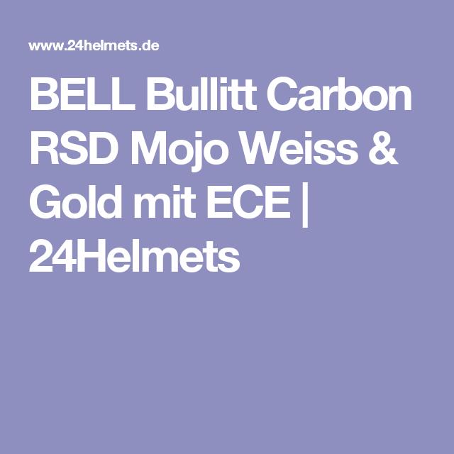 BELL Bullitt Carbon RSD Mojo Weiss & Gold mit ECE   24Helmets