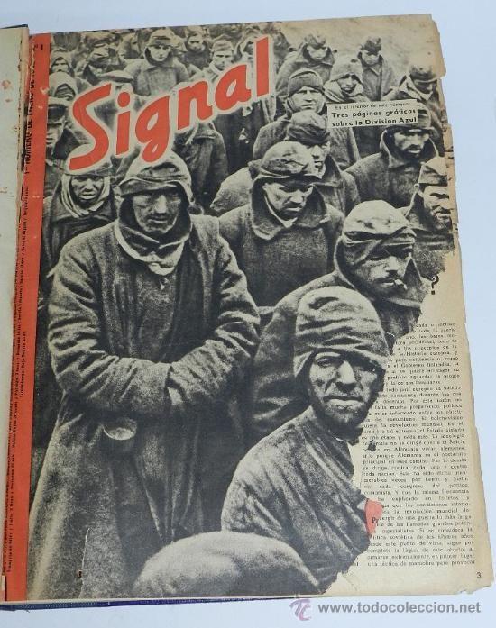Militaria: TOMO ENCUADERNADO CN 15 REVISTAS SIGNAL, DIVISION AZUL, II GUERRA MUNDIAL, DESDE LA NUM. 1 DE 1942 A - Foto 6 - 36982927