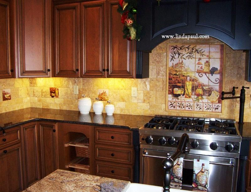 Tuscan Kitchen Tapenade Tile Mural Italian Style Kitchens