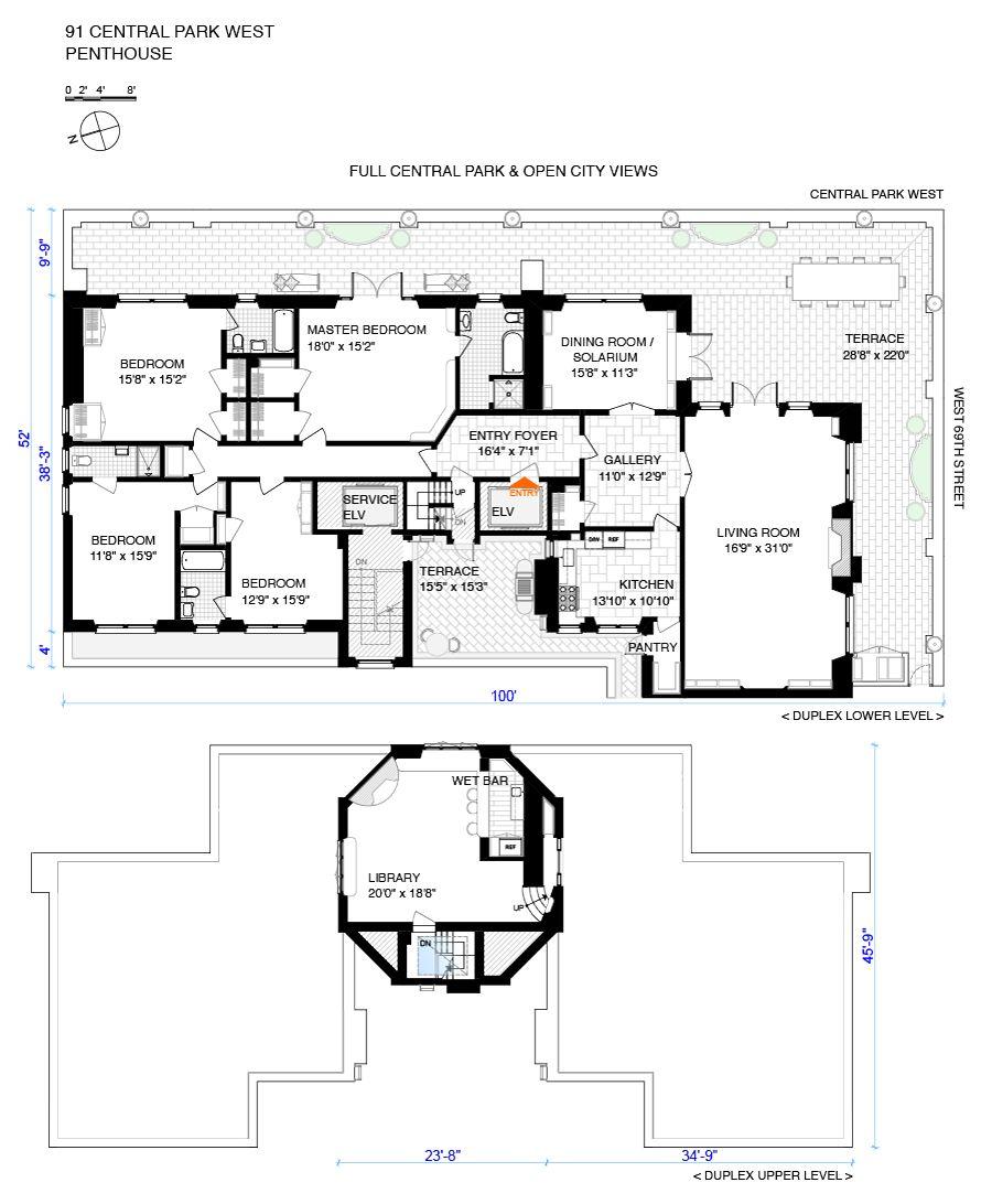 San Simeon Apartments: Corcoran, 91 Central Park West, Apt. PH-A, Upper West Side