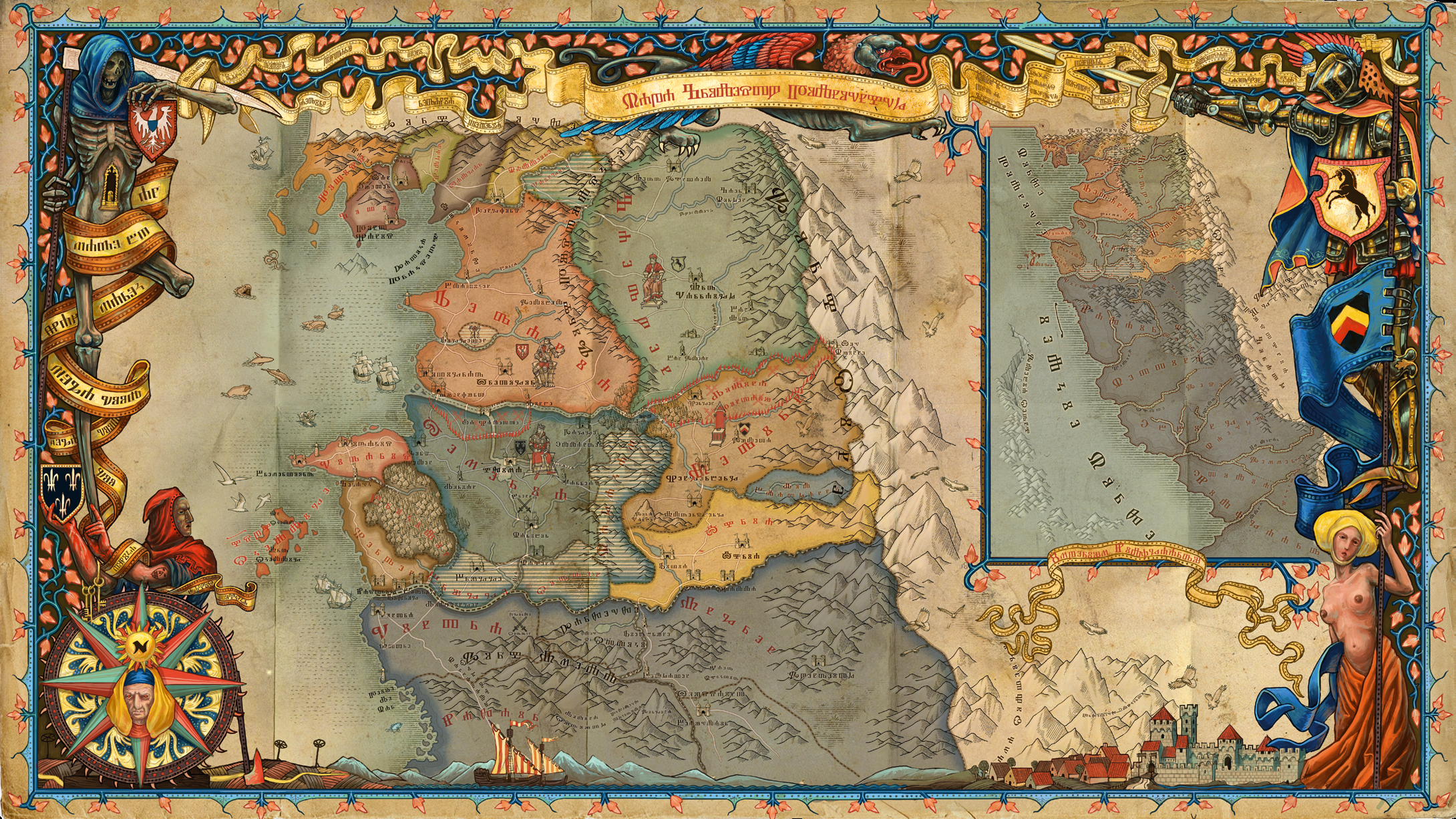 Mapa The Witcher 2.This Map Of The Witcher World From The Witcher 2 Artbook Is