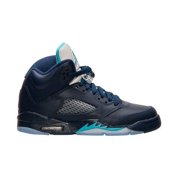 1e7221904e65e3 Boys  Grade School Air Jordan 5 Retro Basketball Shoes ( 60) ❤ liked on