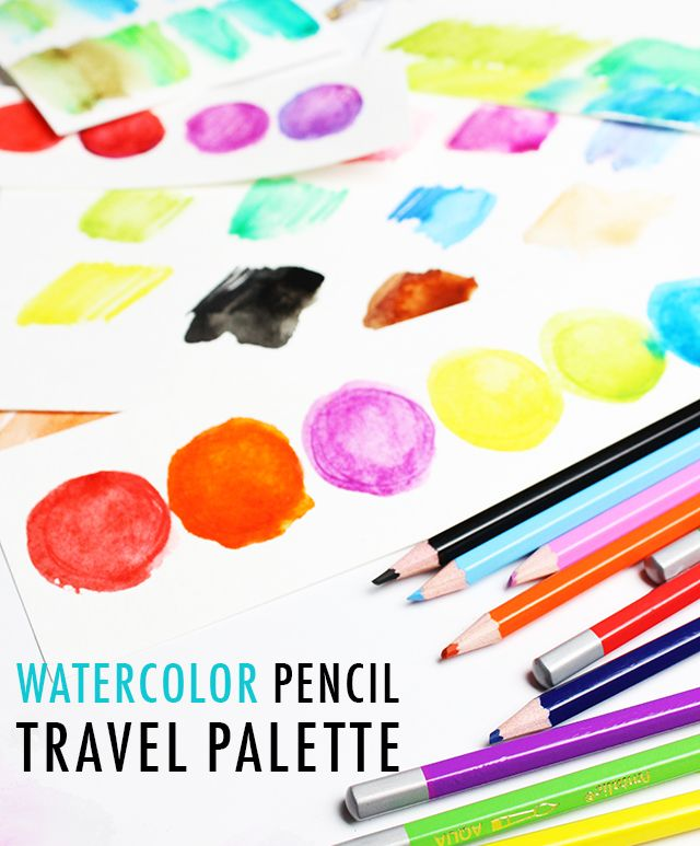 Watercolor Pencil Paint Palette Alisaburke Watercolor Pencils