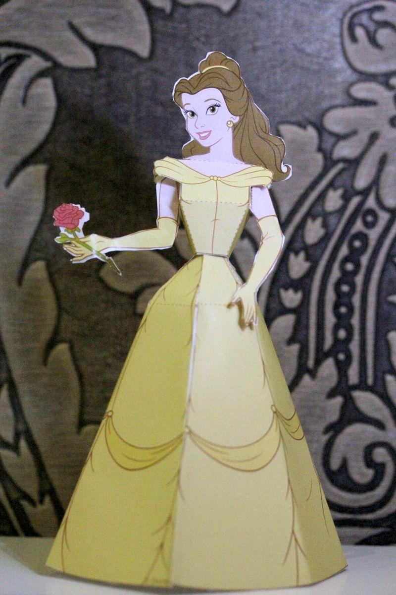 Beauty & The Beast - Belle Paper Doll   ディズニー   Pinterest