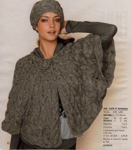 cape tricot femme