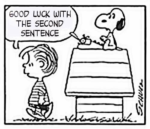 Good grief! Snoopy has writer's block. | Writing humor, Writing ...