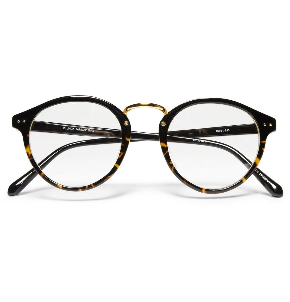 LINDA FARROW LUXE ROUND-FRAME GLASSES   Eye Glasses   Pinterest ... 933f34a229