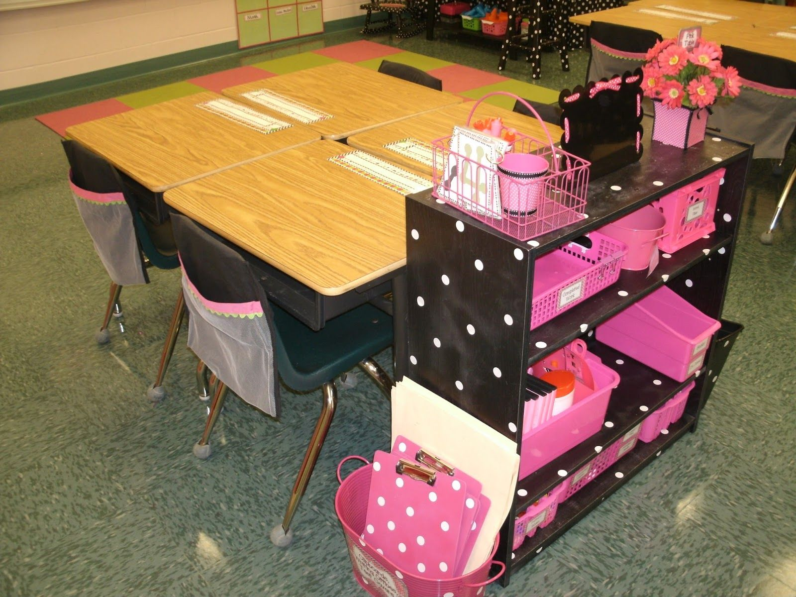 Five for Friday- Supply shelves, sewing blinds, and library fun!