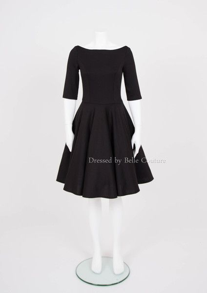 Stretchkleider - puristisches Basic Kleid \