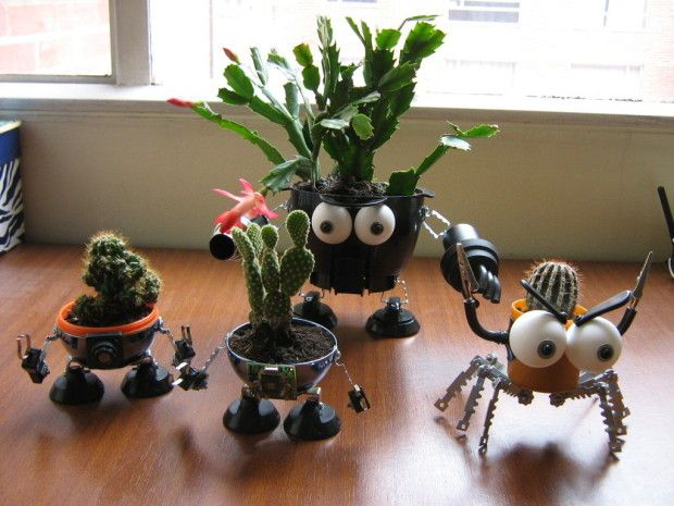 DIY Thursday: Upcycled Robo Planters