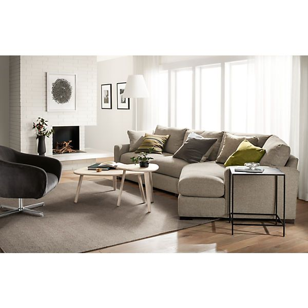 Wonderful Metro Sofa With Angled Chaise   Modern Sectionals   Modern Living Room  Furniture   Room U0026 Board