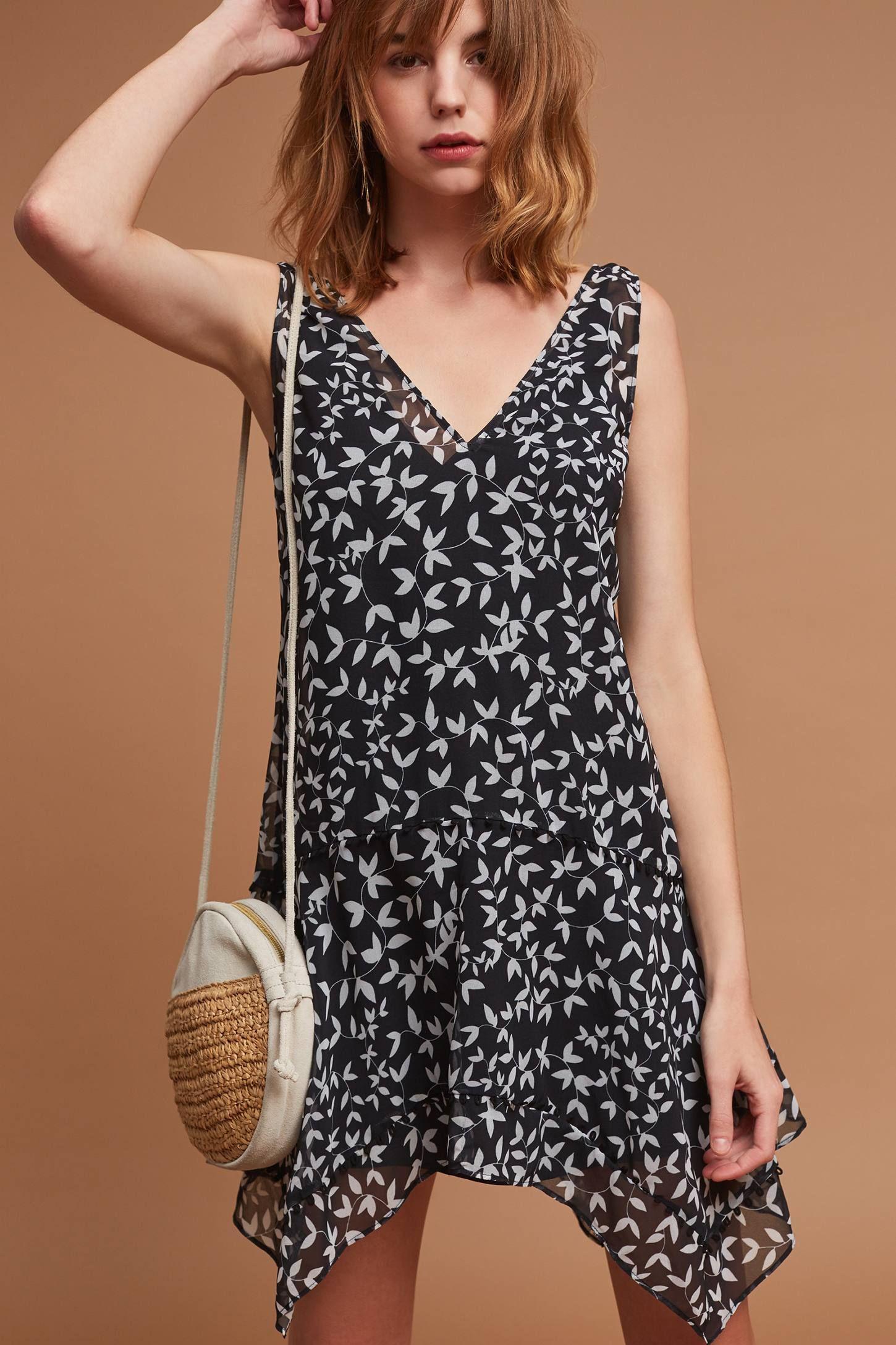 Avy Flounced Mini Dress