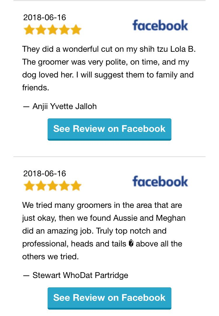 2 reviews we received on Facebook yesterday. We ️ our