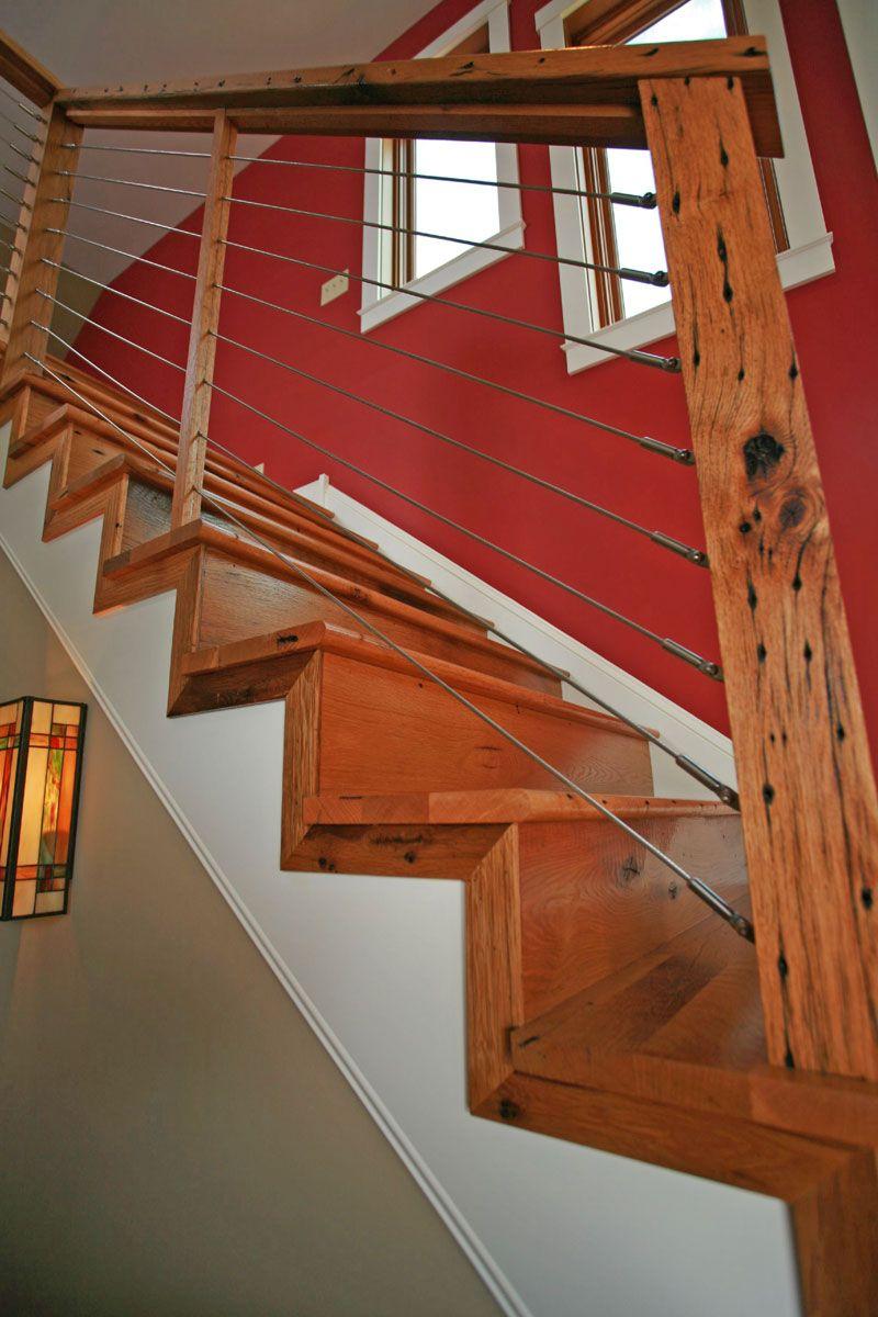 Antique Barn Board Oak Stair Treads And Risers Oak | Custom Oak Stair Treads