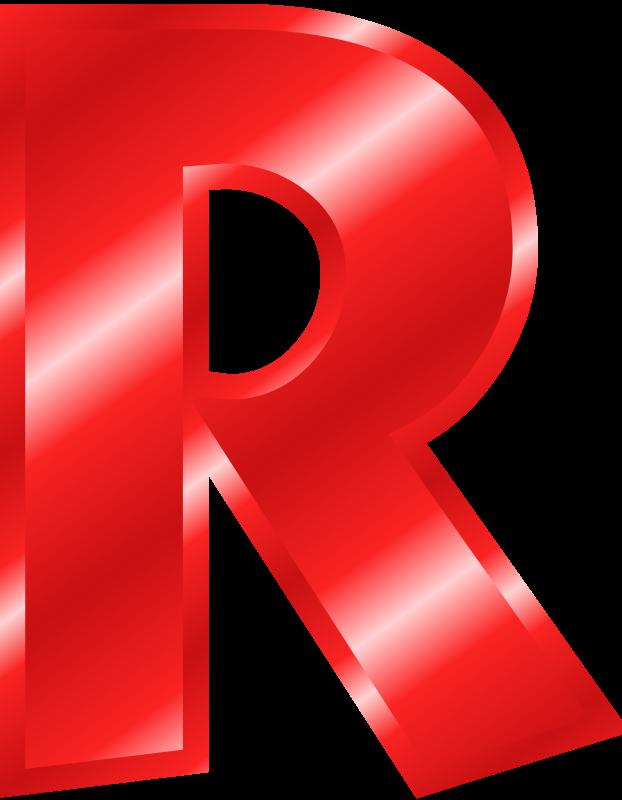 Big Red R  RR    Big And Clip Art