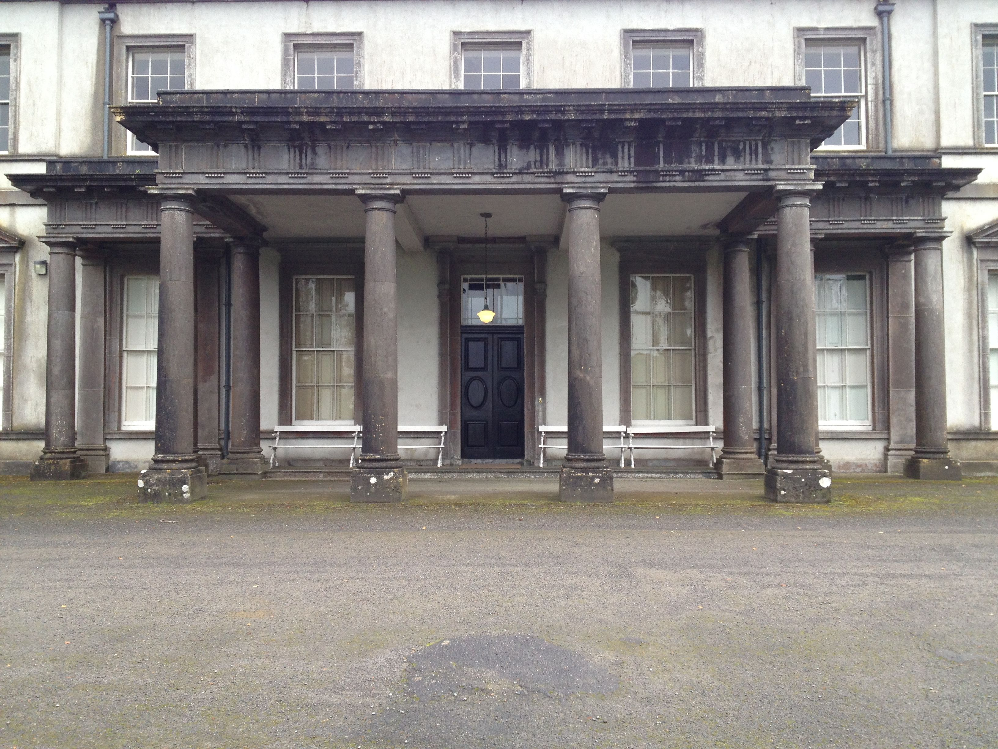 The Portico Of Garbally County Galway Once Home To Successive