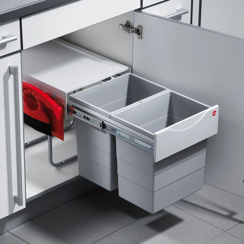 Hailo Raumspar-Tandem Comfort 3641-22 Mülleimer 2 X 20 Liter