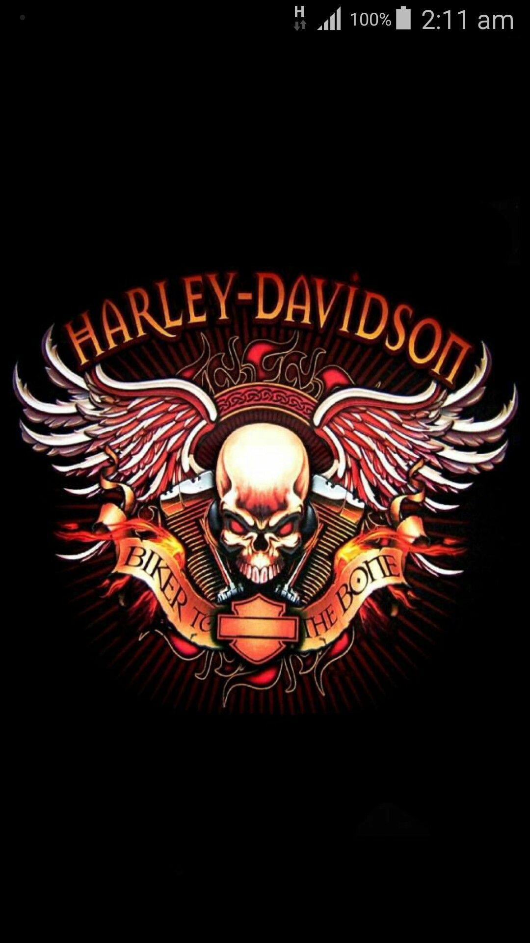 Skull Harley Davidson Android Background in 2020 Harley