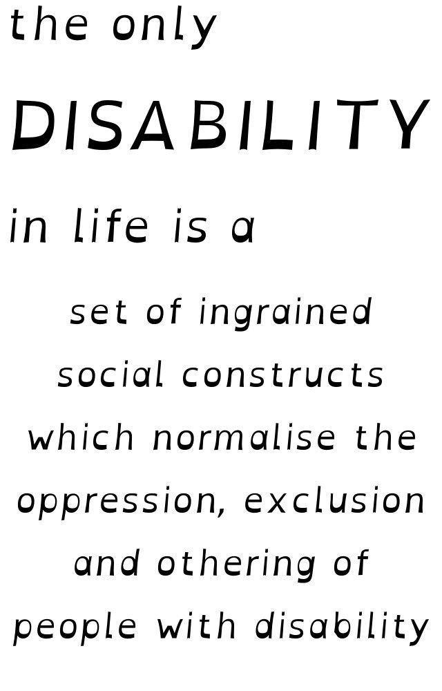 The Only Disability In Life Is A Bad Attitude Memes Are Actually Pretty Insulting To People Living With Ac Disability Quotes Disability Discrimination Quotes