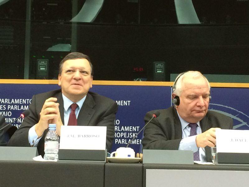 Riunione Ppe Con Daul E Barroso Durante Il Mio Intervento Ho