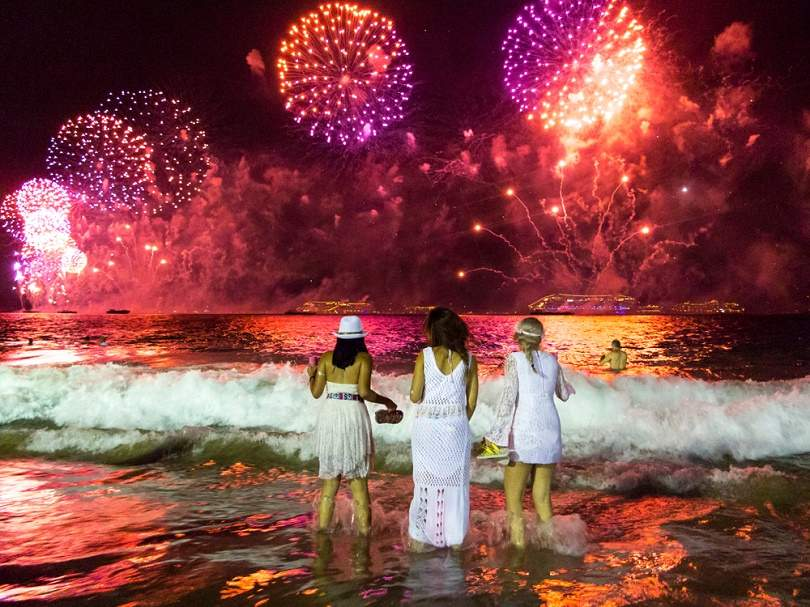 Rio De Janeiro Brazil Celebration Around The World New Years Eve Traditions New Years Eve