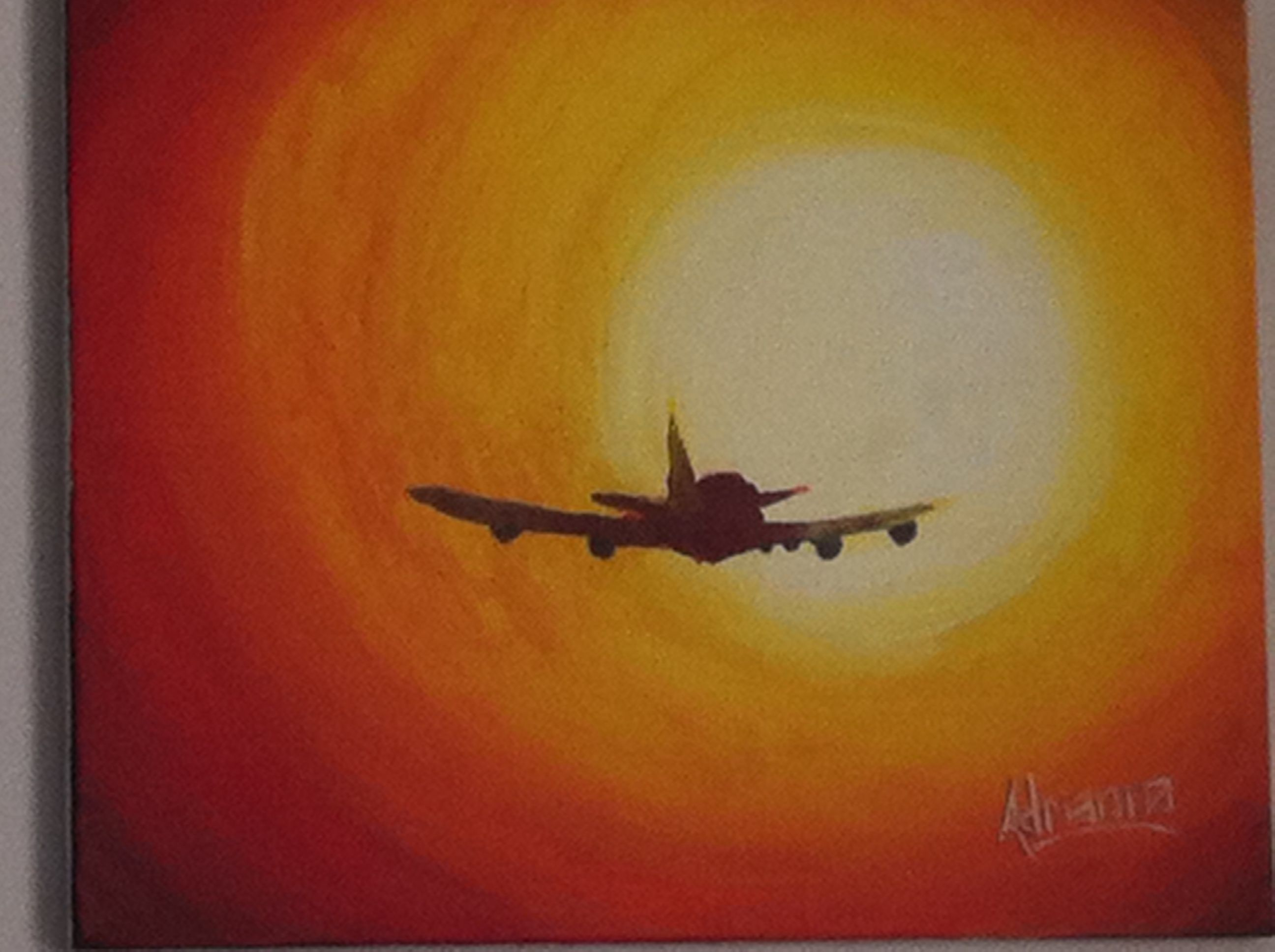 Airplane Painting Airplane Painting Night Painting Cloud